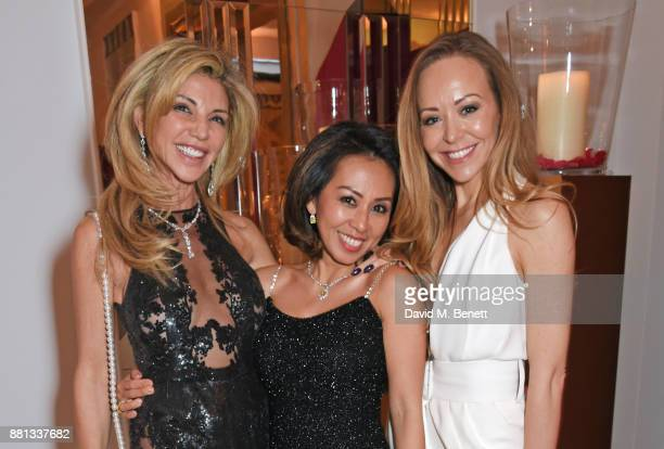 Lisa Tchenguiz Fitri Hay and Tamara Ralph attend the Lady Garden Gala in aid of Silent No More Gynaecological Cancer Fund and Cancer Research UK at...