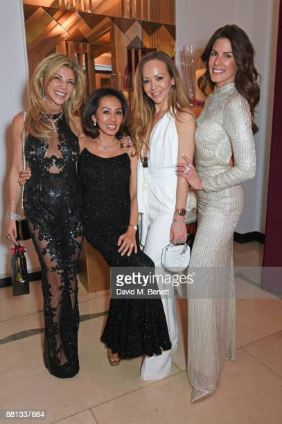 Lisa Tchenguiz Fitri Hay Tamara Ralph and Christina Estrada attend the Lady Garden Gala in aid of Silent No More Gynaecological Cancer Fund and...