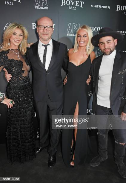 Lisa Tchenguiz Paul Haggis Caroline Stanbury and Parson James attend the BOVET 1822 Brilliant is Beautiful Gala benefitting Artists for Peace and...