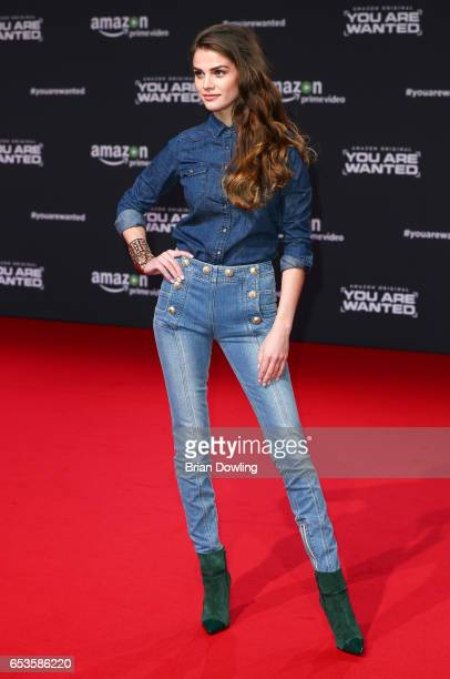 Lisa Tomaschewsky arrives at Amazon Prime Video's premiere of the series 'You are Wanted' at CineStar on March 15 2017 in Berlin Germany