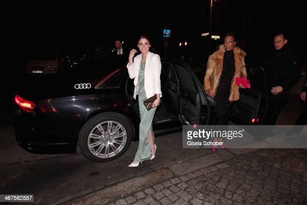Lisa Tomaschewsky attends the Berlin Opening Night Of Gala Ufa Fiction during the 64th Berlinale International Film Festival at Hotel Das Stue on...