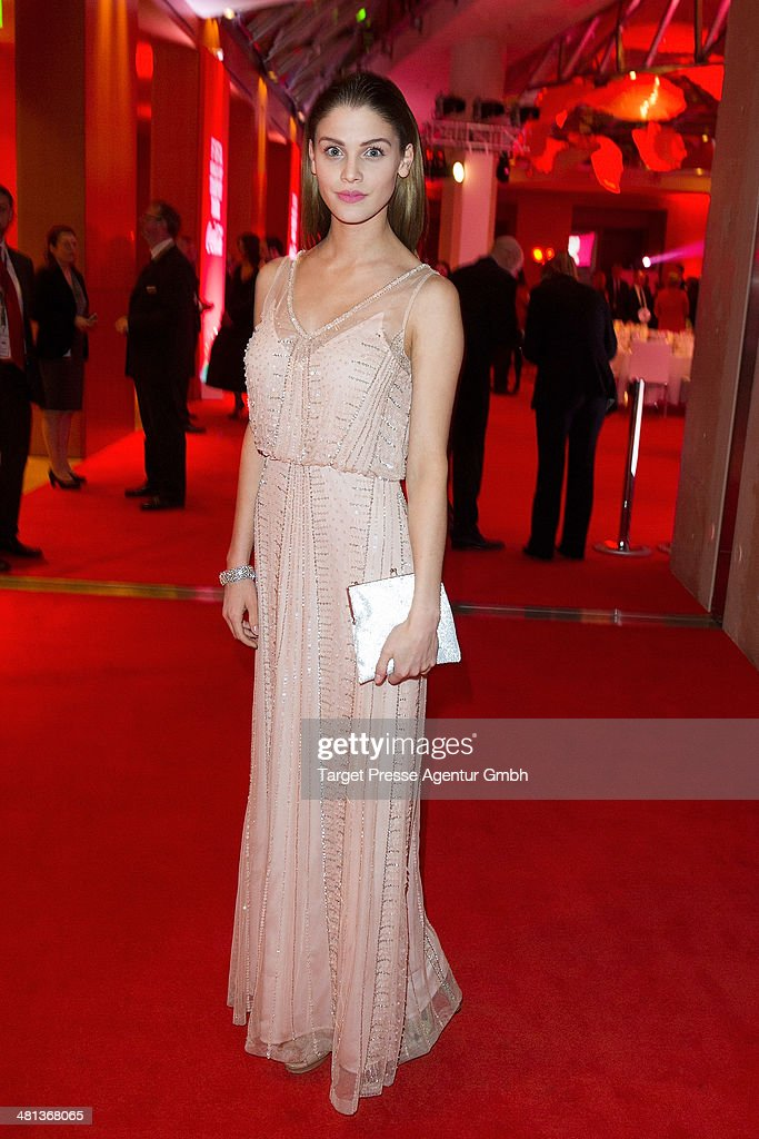 Lisa Tomaschewsky attends the Gala Night of the FIFA World Cup trophy Tour on March 29, 2014 in Berlin, Germany.
