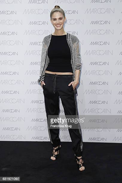 Lisa Tomaschewsky attends the Marc Cain fashion show A/W 2017 at Deutsche Telekom representation on January 17 2017 in Berlin Germany
