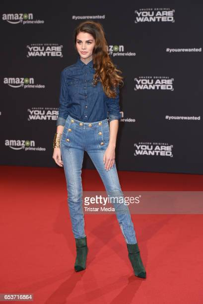 Lisa Tomaschewsky attends the premiere of the Amazon series 'You are wanted' at CineStar on March 15 2017 in Berlin Germany