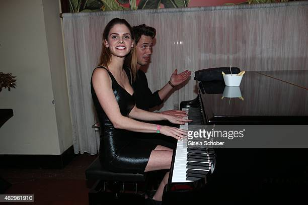 Lisa Tomaschewsky Mark Benjamin during the Bild 'Place to B' Party at Borchardt Restaurant on February 7 2015 in Berlin Germany