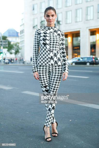 Lisa Tomaschewsky wearing HM Design Award by Richard Quinn arrives at the 6th German Actor Award Ceremony at Zoo Palast on September 22 2017