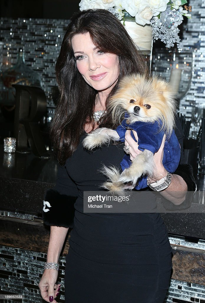 Lisa Vanderpump and Giggy attend the 'How Lavish Will Your 2013 Be?' event held at Sur Restaurant on January 15, 2013 in Los Angeles, California.