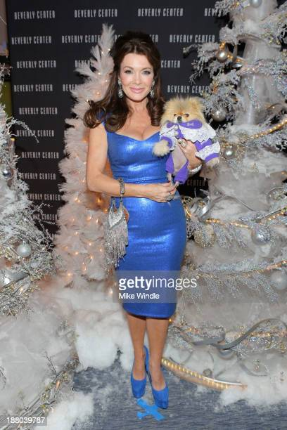 Lisa Vanderpump and her dog Giggy attend Beverly Center's Holiday Pet Portraits Debut at The Beverly Center on November 14 2013 in Los Angeles...