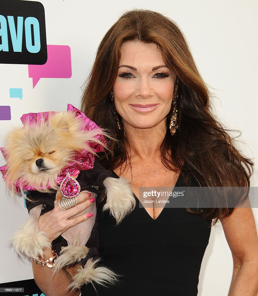 Lisa Vanderpump and her dog Giggy The Pom attend Bravo Media's 2013 For Your Consideration Emmy event at Leonard H. Goldenson Theatre on May 22, 2013 in North Hollywood, California.