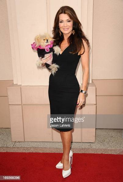 Lisa Vanderpump and her dog Giggy The Pom attend Bravo Media's 2013 For Your Consideration Emmy event at Leonard H Goldenson Theatre on May 22 2013...