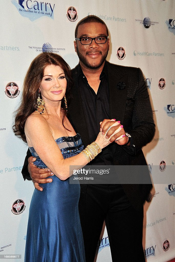 Lisa Vanderpump and Tyler Perry arrive at 'Shall We Dance' Annual Gala for the Coalition for At-Risk Youth at The Beverly Hilton Hotel on May 11, 2013 in Beverly Hills, California.