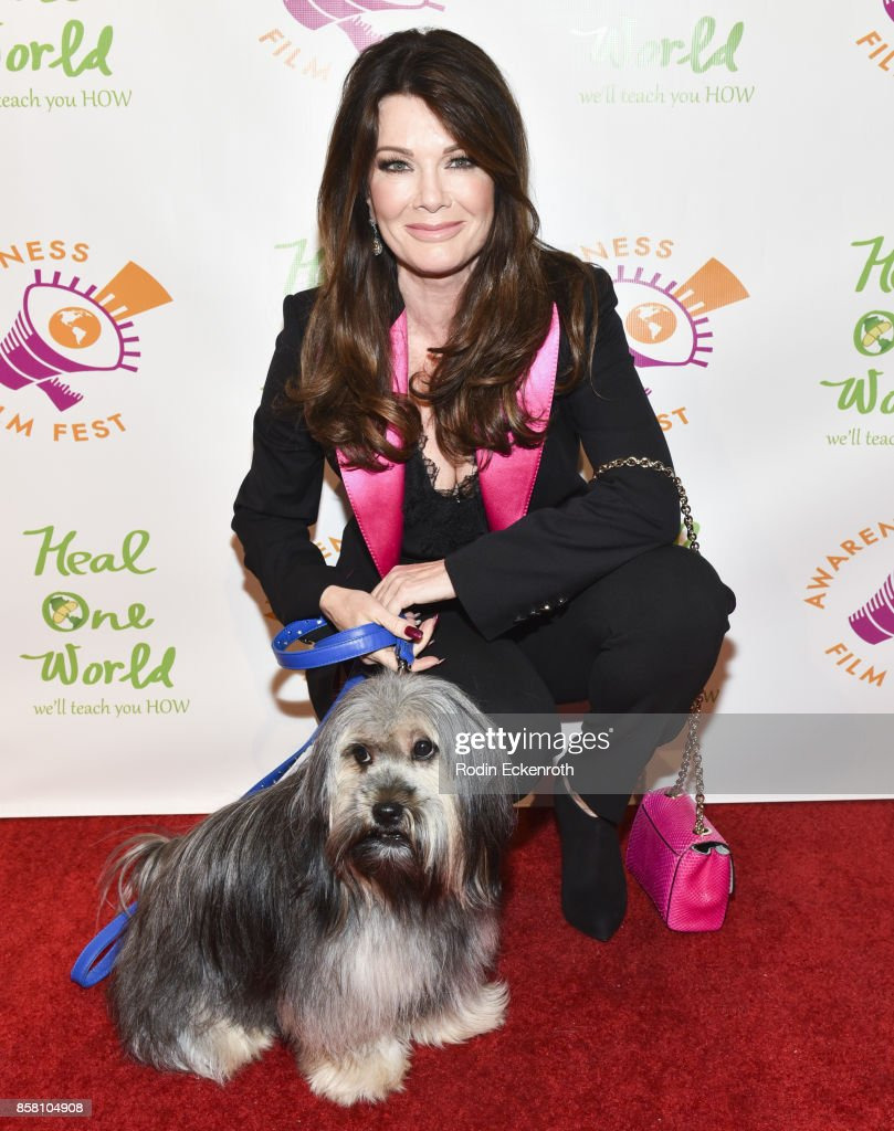 Lisa Vanderpump attends the 2017 Awareness Film Festival Opening Night Premiere of 'The Road to Yulin and Beyond' at Regal LA Live Stadium 14 on October 5, 2017 in Los Angeles, California.