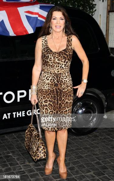 Lisa Vanderpump attends the Topshop Topman LA Opening Party held at Cecconi's Restaurant on February 13 2013 in Los Angeles California