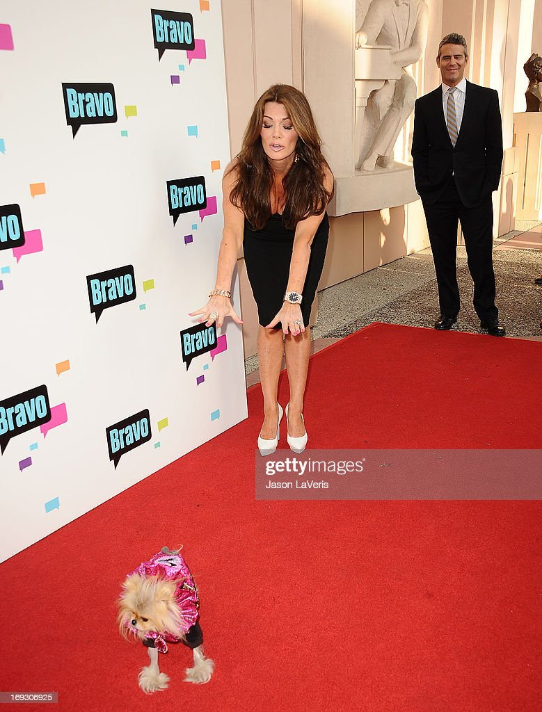 <a gi-track='captionPersonalityLinkClicked' href=/galleries/search?phrase=Lisa+Vanderpump&family=editorial&specificpeople=6834933 ng-click='$event.stopPropagation()'>Lisa Vanderpump</a>, Giggy The Pom and Andy Cohen attend Bravo Media's 2013 For Your Consideration Emmy event at Leonard H. Goldenson Theatre on May 22, 2013 in North Hollywood, California.