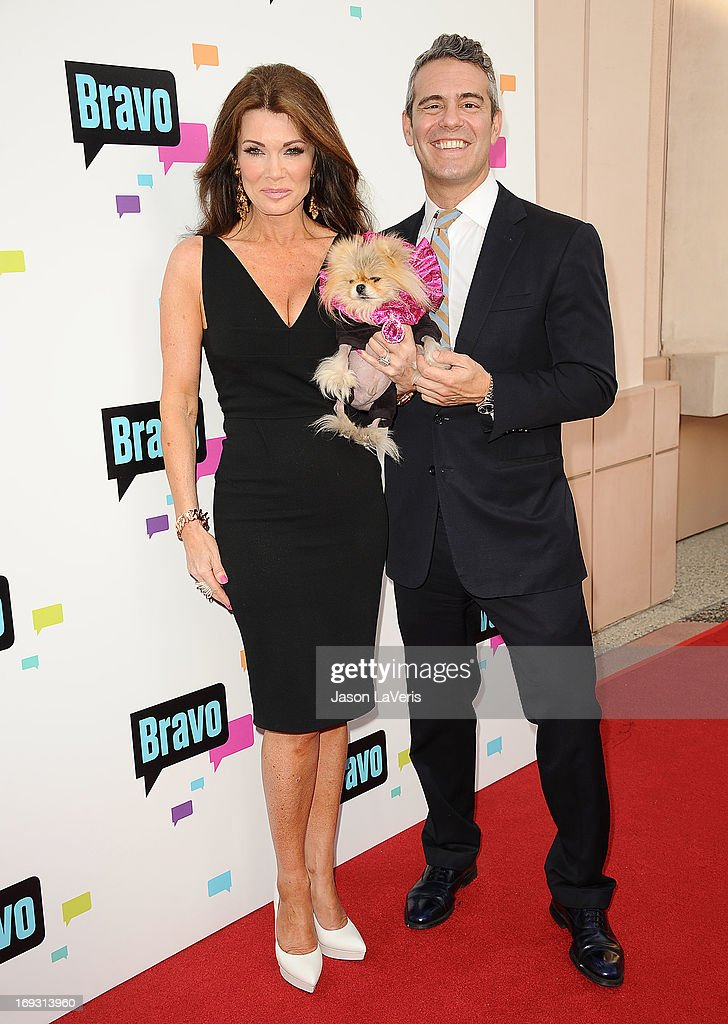 Lisa Vanderpump, Giggy The Pom and Andy Cohen attend Bravo Media's 2013 For Your Consideration Emmy event at Leonard H. Goldenson Theatre on May 22, 2013 in North Hollywood, California.