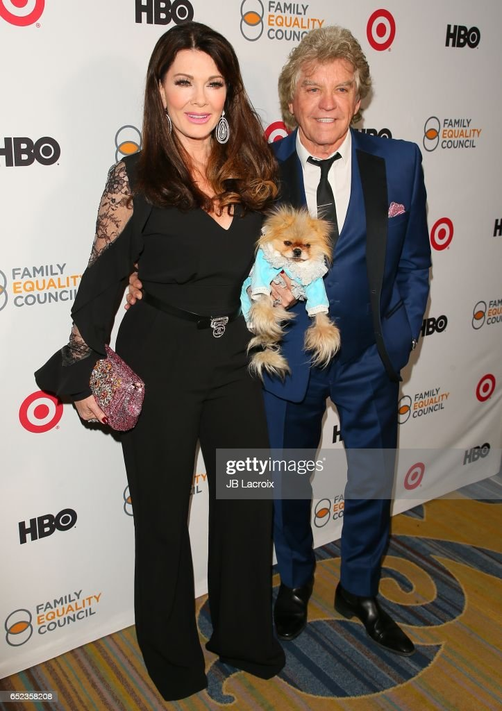 Lisa Vanderpump, Giggy the Pom and Ken Todd attend the Family Equality Council's Annual Impact Awards on March 11, 2017 in Beverly Hills, California.