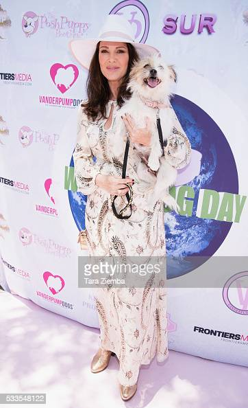Lisa Vanderpump hosts World Dog Day Celebration at The City of West Hollywood Park on May 22 2016 in West Hollywood California