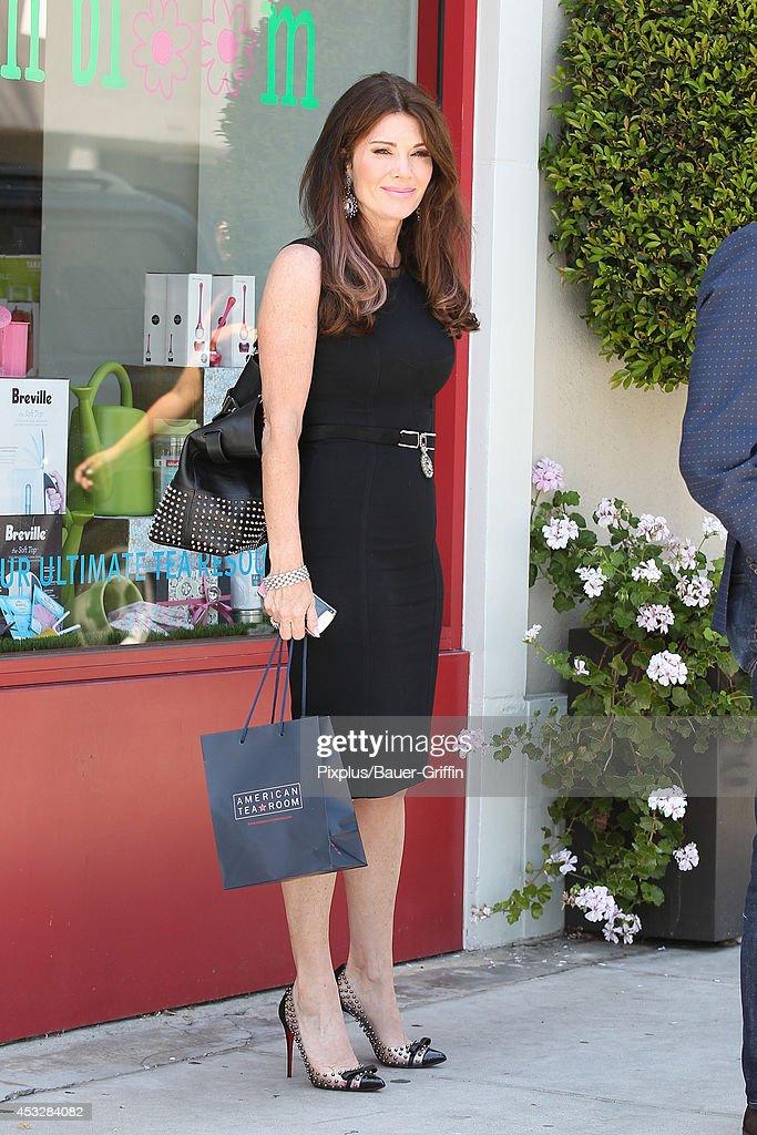 Lisa Vanderpump is seen in Beverly Hills on August 06 2014 in Los Angeles California