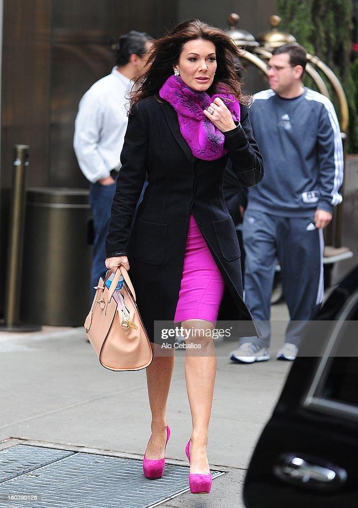 Lisa Vanderpump is seen in Soho on January 30, 2013 in New York City.