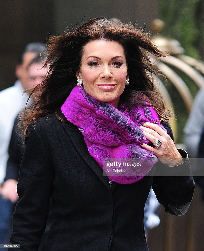 Lisa Vanderpump is seen in Soho on January 30, 2013 in New York City.