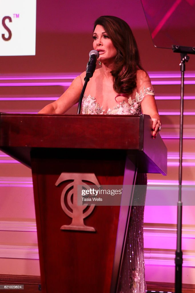 Lisa Vanderpump speaks onstage at Vanderpump Dogs Foundation Gala at Taglyan Cultural Complex on November 3, 2016 in Hollywood, California.