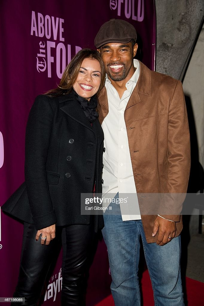 <a gi-track='captionPersonalityLinkClicked' href=/galleries/search?phrase=Lisa+Vidal&family=editorial&specificpeople=665925 ng-click='$event.stopPropagation()'>Lisa Vidal</a> and <a gi-track='captionPersonalityLinkClicked' href=/galleries/search?phrase=Jason+George&family=editorial&specificpeople=2566184 ng-click='$event.stopPropagation()'>Jason George</a> attends the opening night performace of 'Above the Fold' at Pasadena Playhouse on February 5, 2014 in Pasadena, California.