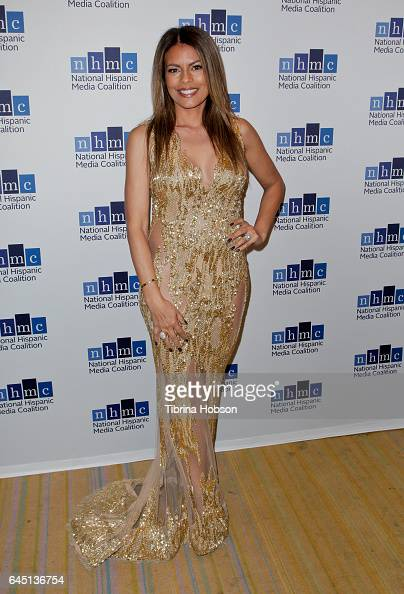 Lisa Vidal attends the National Hispanic Media Coalition's 20th Annual Impact Awards Gala at Regent Beverly Wilshire Hotel on February 24 2017 in...