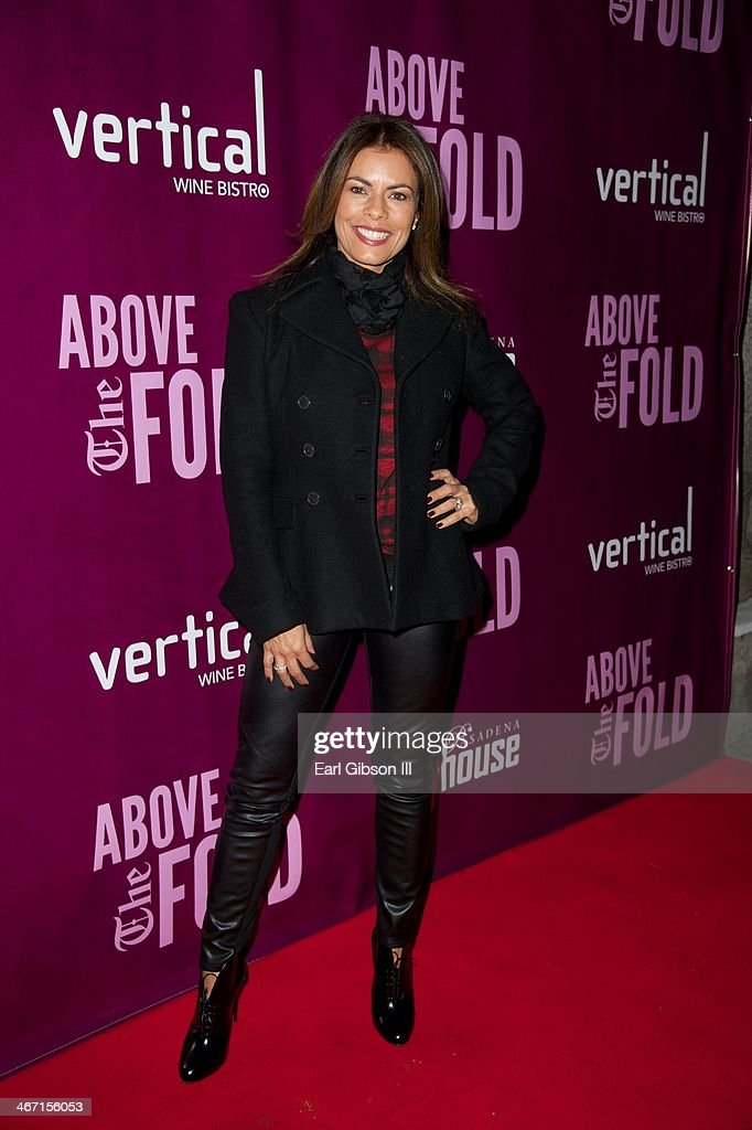 <a gi-track='captionPersonalityLinkClicked' href=/galleries/search?phrase=Lisa+Vidal&family=editorial&specificpeople=665925 ng-click='$event.stopPropagation()'>Lisa Vidal</a> attends the opening night celebration of 'Above the Fold' at Pasadena Playhouse on February 5, 2014 in Pasadena, California.