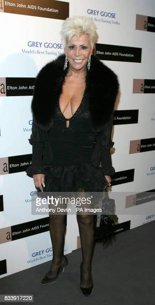 Lisa Voice arrives at the Grey Goose Vodka and The Elton John AIDS Foundation VIP launch party One Piazza Covent Garden London