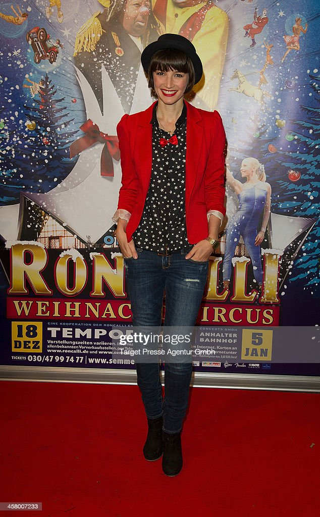Lisa Wanda Badwal attends the 10th Roncalli Christmas Circus at Tempodrom on December 19, 2013 in Berlin, Germany.
