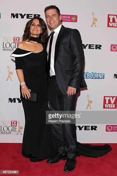 Lisa Wilkinson and Karl Stefanovic arrive at the 2014 Logie Awards at Crown Palladium on April 27 2014 in Melbourne Australia