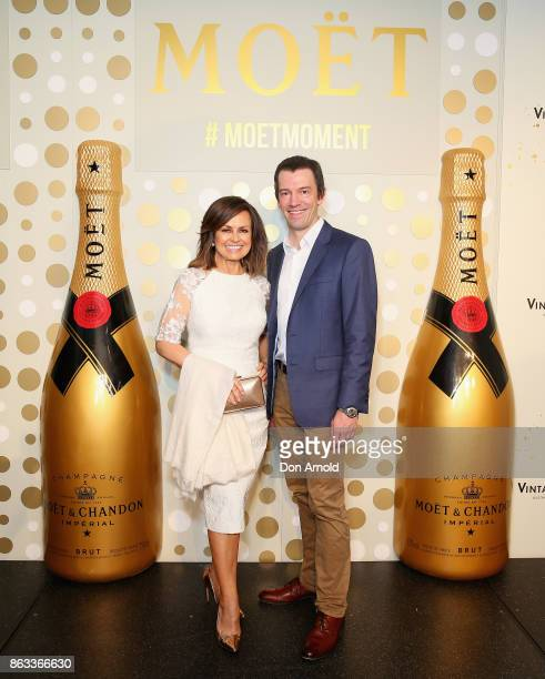 Lisa Wilkinson and Tyson Stelzer pose at Sydney Opera House on October 20 2017 in Sydney Australia More than 800 people gathered to celebrate global...