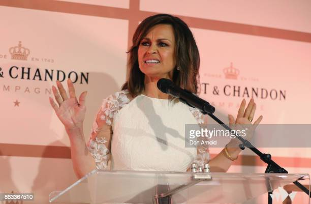 Lisa Wilkinson announces a toast at Sydney Opera House on October 20 2017 in Sydney Australia More than 800 people gathered to celebrate global...