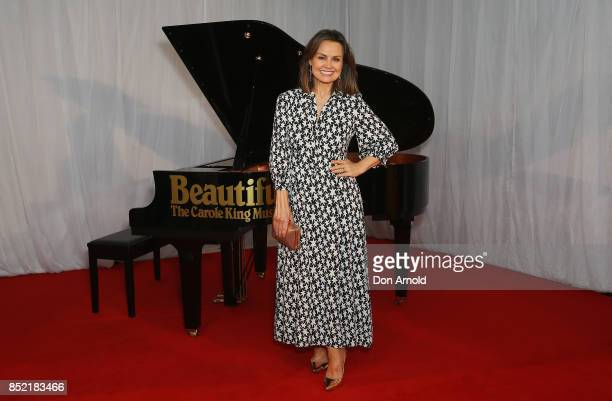 Lisa Wilkinson arrives ahead of premiere of Beautiful The Carole King Musical at Lyric Theatre Star City on September 23 2017 in Sydney Australia