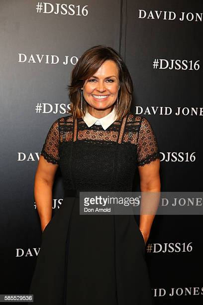 Lisa Wilkinson arrives ahead of the David Jones Spring/Summer 2016 Fashion Launch at Fox Studios on August 3 2016 in Sydney Australia