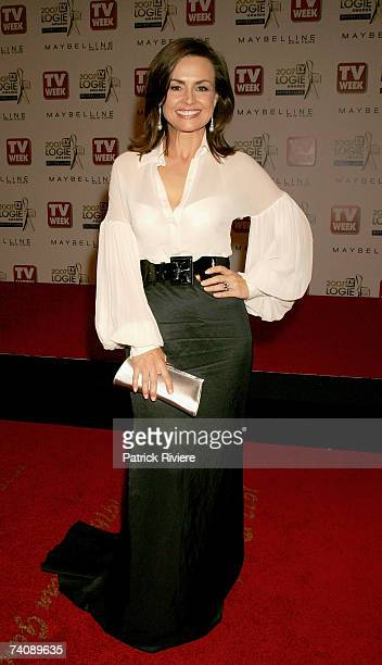 Lisa Wilkinson arrives at the 2007 TV Week Logie Awards at the Crown Casino on May 6 2007 in Melbourne Australia The annual television awards sees...