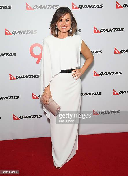 Lisa Wilkinson arrives at the QANTAS 95th Birthday Gala Celebration at Hangar 96 in the Qantas Jetbase on November 20 2015 in Sydney Australia