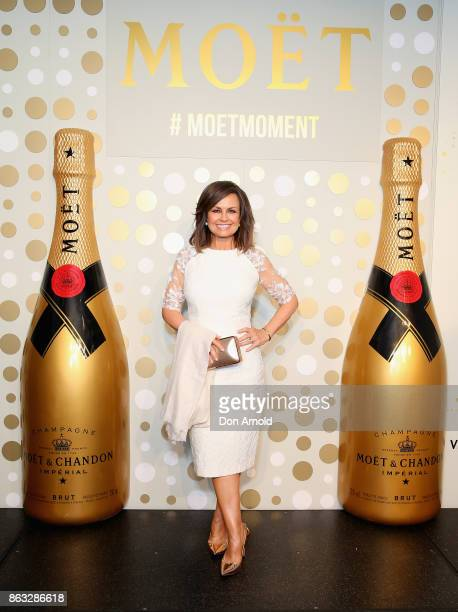 Lisa Wilkinson poses at Sydney Opera House on October 20 2017 in Sydney Australia More than 800 people gathered to celebrate global champagne day and...