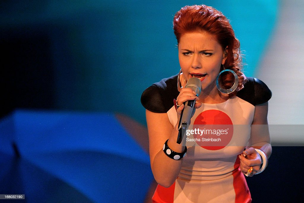 Lisa Wohlgemuth performs during the rehearsal for the semi final of 'Deutschland Sucht Den Superstar' at Coloneum on May 4, 2013 in Cologne, Germany.