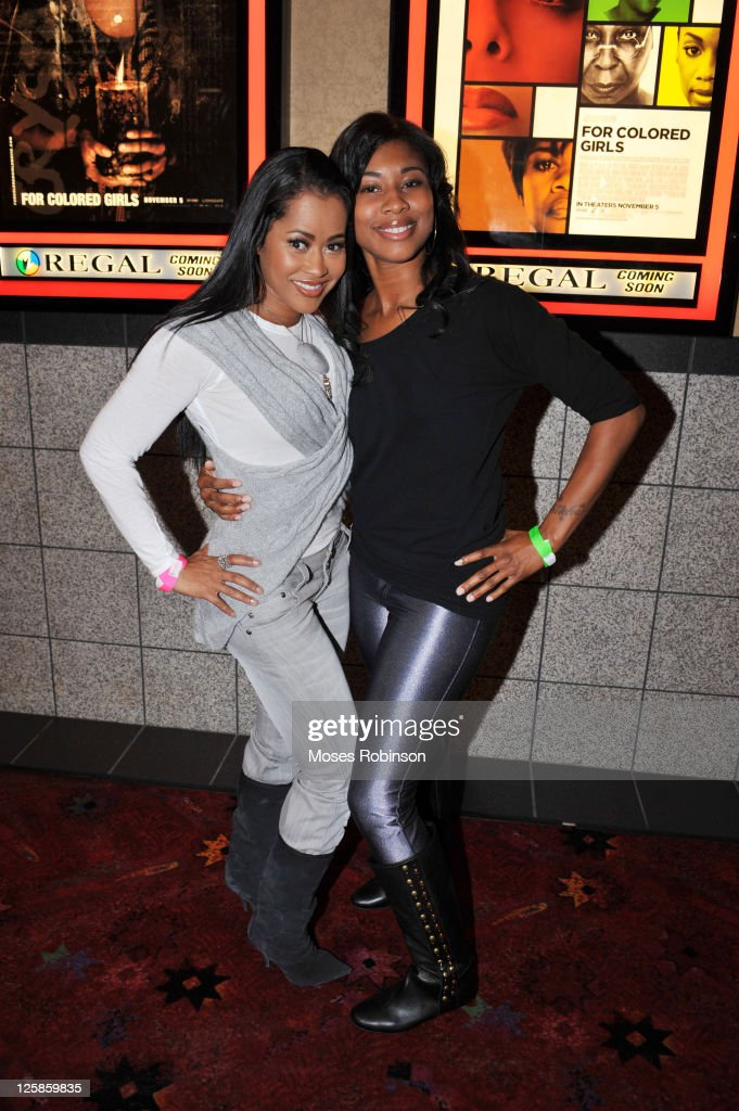 Lisa Wu Hartwell and Jamekia Freeman attend the 'For Colored Girls' Screening at Regal Atlantic Station on November 1 2010 in Atlanta Georgia