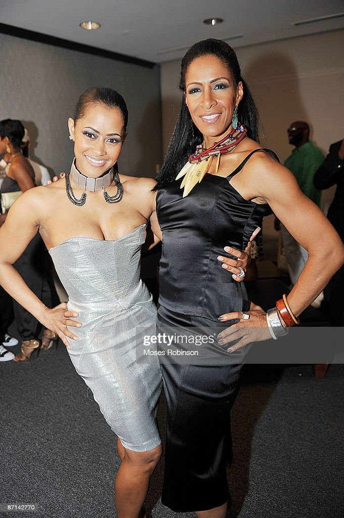 Lisa Wu Hartwell and Sheree Whitfield attend the She by Sheree launch at the W Atlanta Perimeter on May 12 2009 in Atlanta Georgia