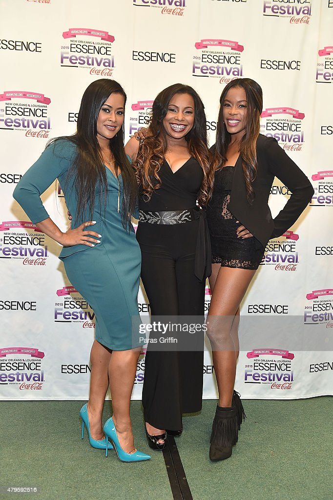 Lisa Wu Paula Jai Parker and Golden Brooks attend the 2015 Essence Music Festival on July 5 2015 at Ernest N Morial Convention Center in New Orleans...