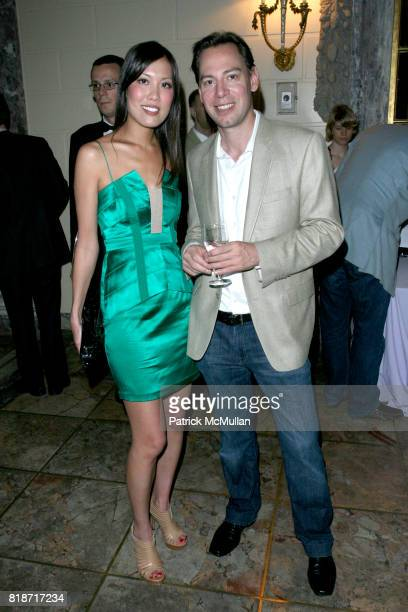Lisa Yom and Thorsment Shmitt attend The YOUNG PATRONS CIRCLE of AMERICAN FRIENDS Hosts SOIREE AU LOUVRE at Payne Whitney Mansion on June 3 2010