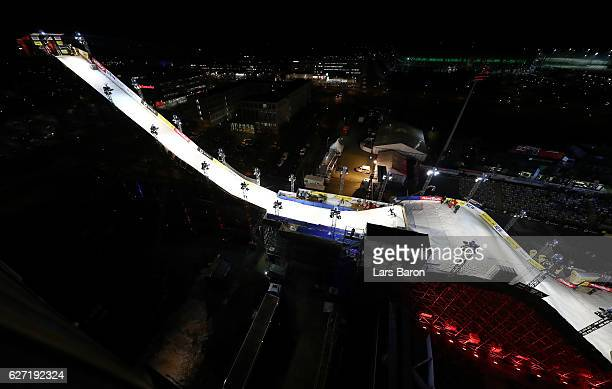 Lisa Zimmermann of Germany competes during the Ski Big Air Final of the ARAG Big Air Freestyle Festival on December 2 2016 in Moenchengladbach Germany
