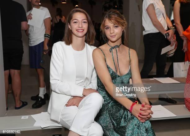 LisaMarie Koroll and her sister attend the Prabal Gulung Design show during the MercedesBenz Fashion Week Berlin Spring/Summer 2018 at Kaufhaus...