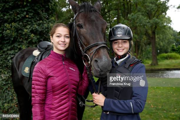LisaMarie Koroll and her sister Lara Sophie Koroll attend the Till Demtroeders CharityEvent 'Usedom Cross Country' at Schloss Mellenthin on September...