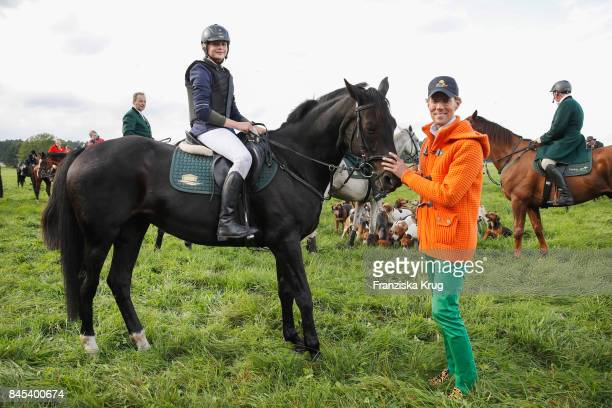 LisaMarie Koroll and Jens Hilbert attend the Till Demtroeders CharityEvent 'Usedom Cross Country' on September 9 2017 near Heringsdorf at Usedom...