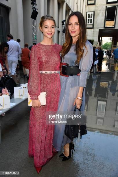 LisaMarie Koroll and Johanna Klum attend the Marina Hoermanseder show during the Berliner Mode Salon Spring/Summer 2018 at Kronprinzenpalais on July...