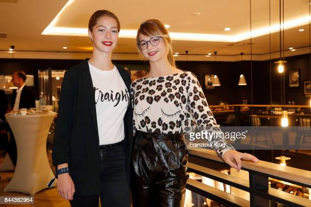 LisaMarie Koroll and Lara Sophie Koroll attend the Till Demtroeders CharityEvent 'Usedom Cross Country' at Pier 14 on September 8 2017 near...