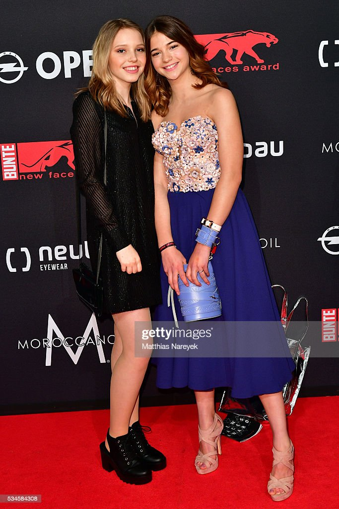 Lisa-Marie Koroll and Lina Larissa Stahl during the New Faces Award Film 2015 at ewerk on May 26, 2016 in Berlin, Germany.